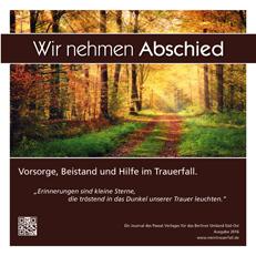 """""""Wir nehmen Abschied"""" Titelseite der Ausgabe Umland Süd-Ost 2016"""