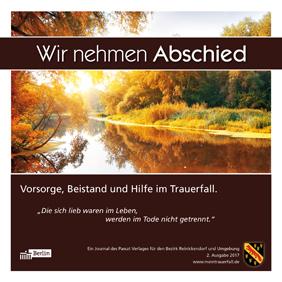 """Titelseite """"Wir nehmen Abschied"""", Ausgabe Reinickendorf 2016"""